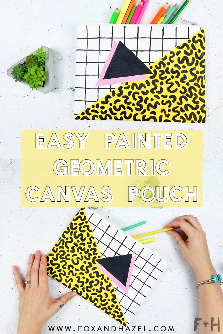 Easy Memphis Design Geometric Zippered Pouch