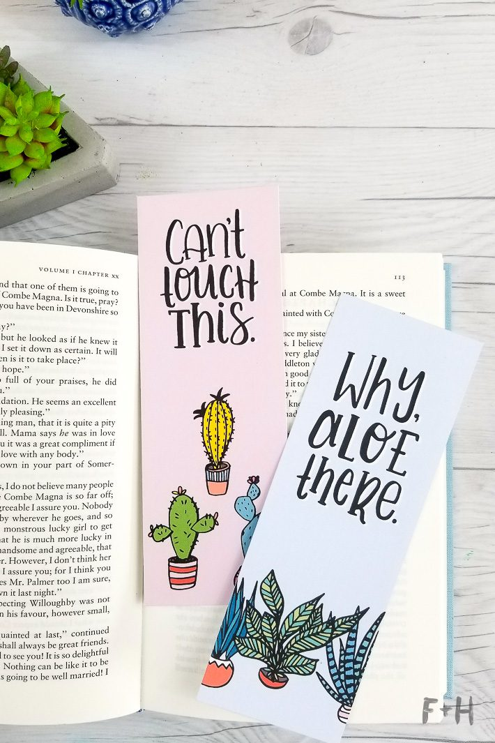 2 Free Succulent Adult Coloring Bookmarks