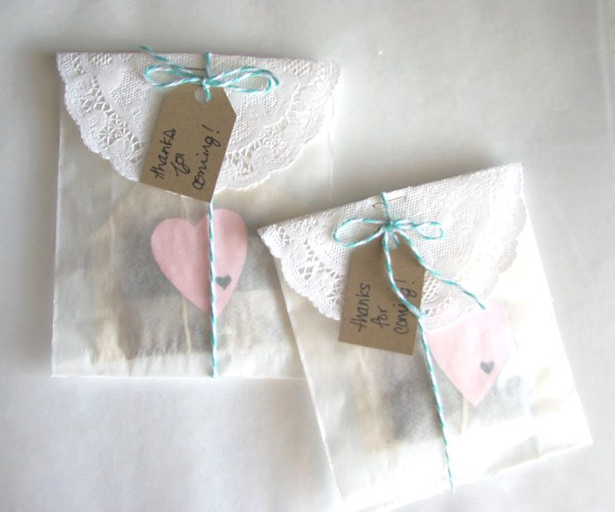 diy tea party favor