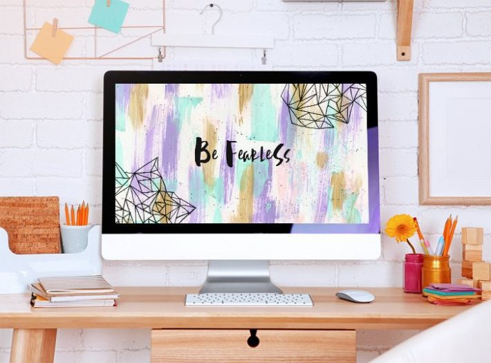 Free Encouragement Desktop Wallpaper - Fox + Hazel