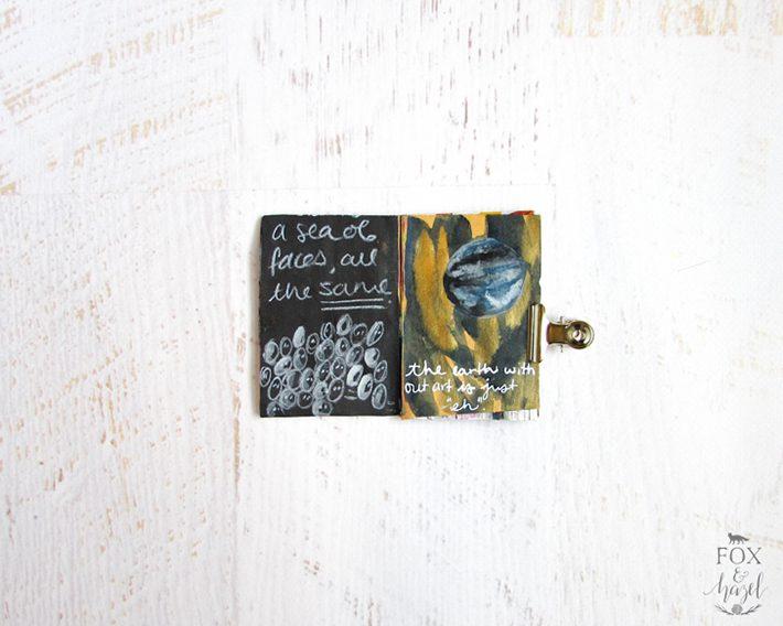 Tiny Art Journal 10 - Fox + Hazel