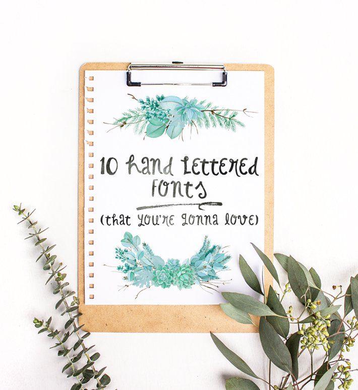 10 Hand Lettered Fonts - Fox + Hazel