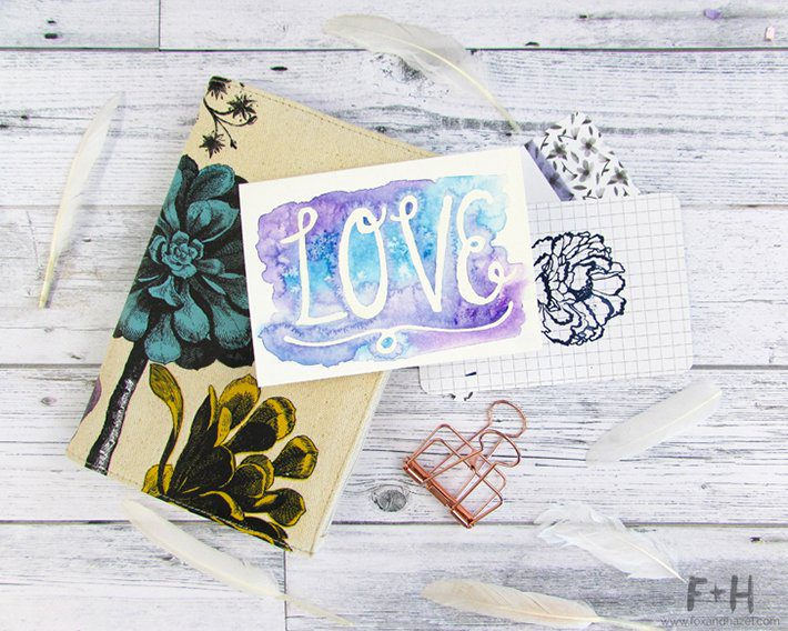 3 easy watercolor valentines cards-fox + hazel 1
