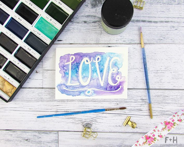 3 easy watercolor valentines cards-fox + hazel 2