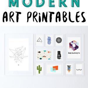 33 Free Modern Art Printables - Fox + Hazel Pinterest