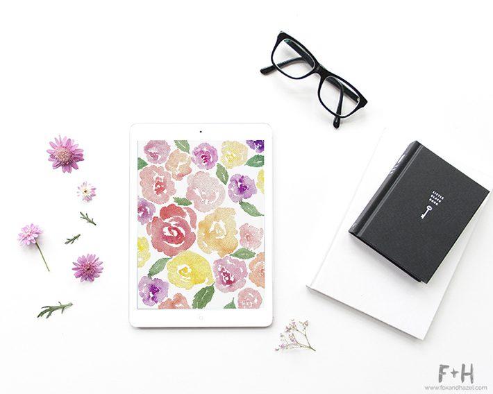 Free Floral Tech Wallpaper - Fox + Hazel