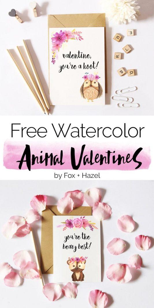 Free Bear Valentine's Day Card - Fox + Hazel