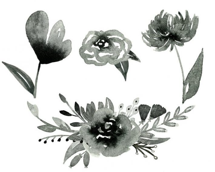 free-inky-watercolor-flower-graphics-foxandhazel