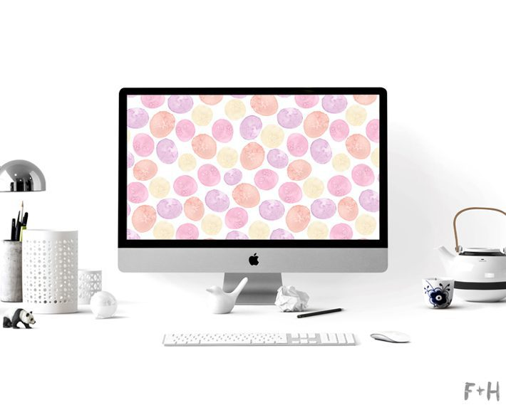watercolor desktop background on mac