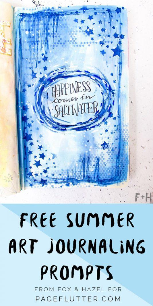 Summer Art Journaling Prompts - Fox and Hazel - Pinterest
