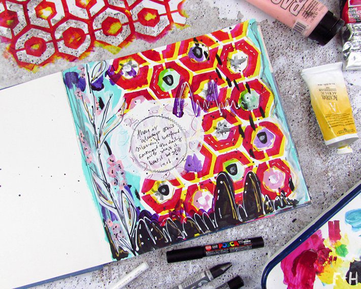 Honeycomb-Art-Journal-Page-3