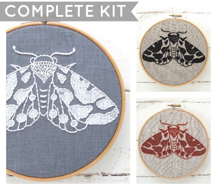 DIY-Kits-for-Creative-People---moth-embroidery-kit