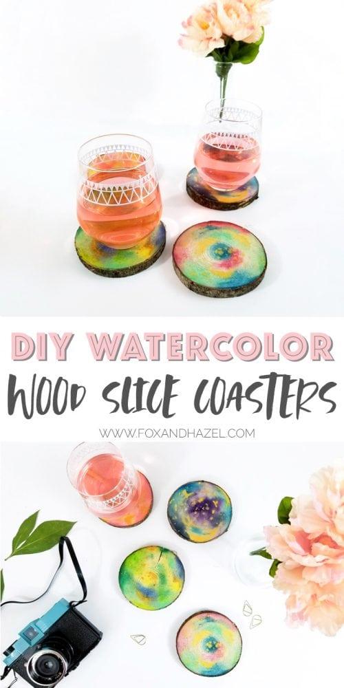DIY-Watercolor-Wood-Slice-Coasters-Pinterest