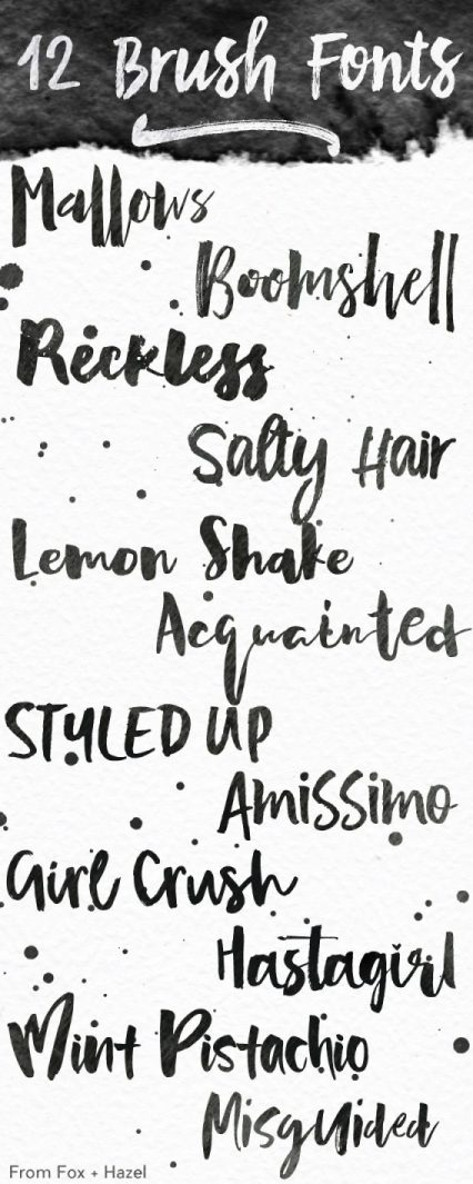 12 Thick Brush Fonts Curated by Fox + Hazel