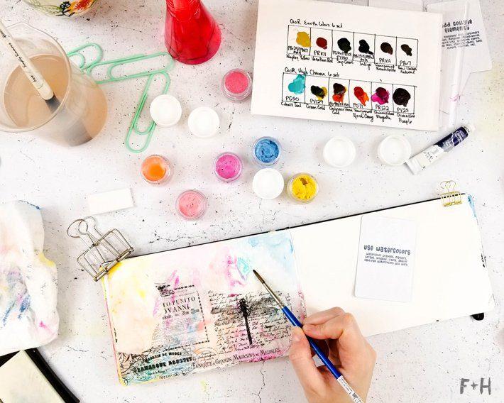 Mixed-Media-Art-Journal-Page---Inspiration-Deck---Fox-+-Hazel-6