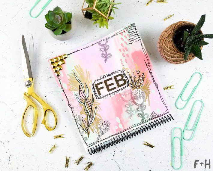DIY Wall Calendar for February - Fox + Hazel