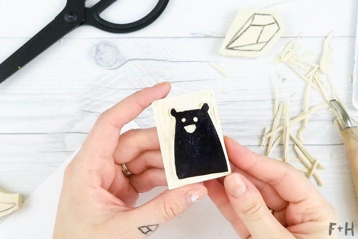 DIY Hand Carved Rubber Stamps - Stamp Carving - Fox + Hazel