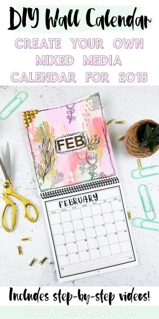 DIY Wall Calendar for February - Fox + Hazel