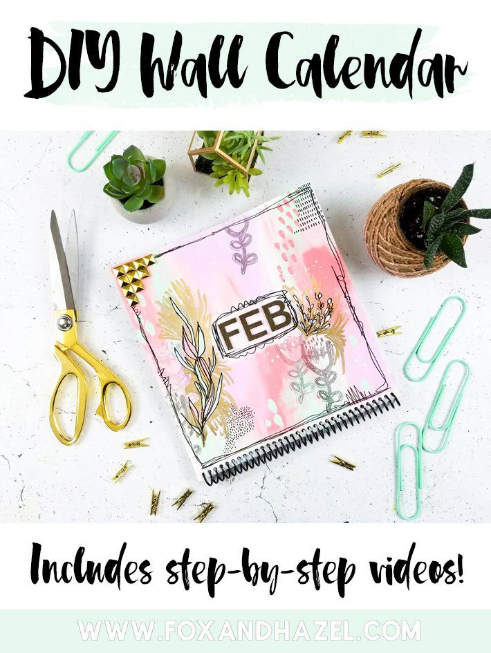 DIY Wall Calendar for February - Fox + Hazel-Short