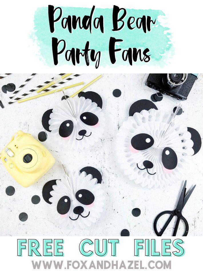 Panda Bear Party Fans -Fox + Hazel -Pinterest-Short