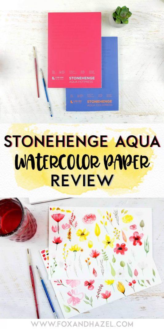 Stonehenge-Aqua-Watercolor-Paper-Review-Fox+Hazel-Pinterest