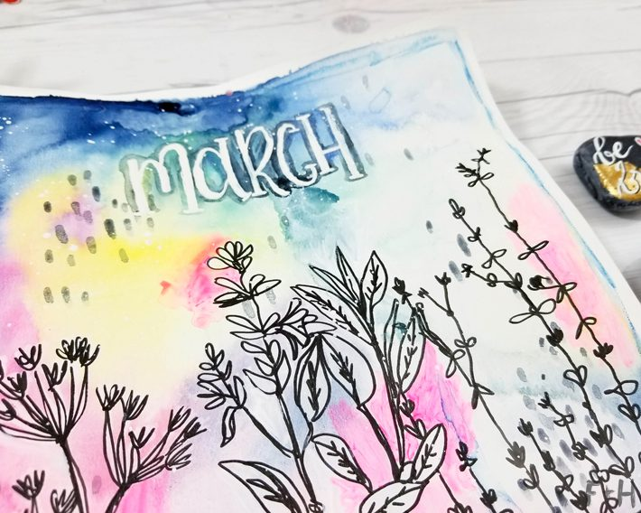 DIY Watercolor Flower Calendar - Fox + Hazel 3