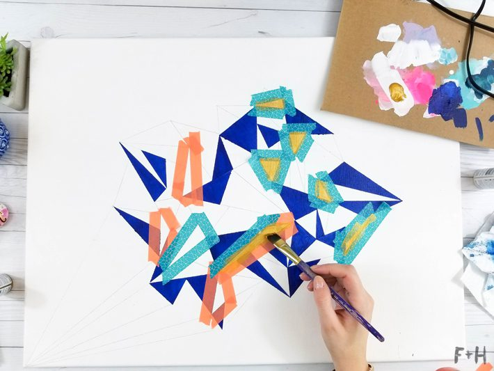Geometric Canvas Art Diy - Fox + Hazel 12