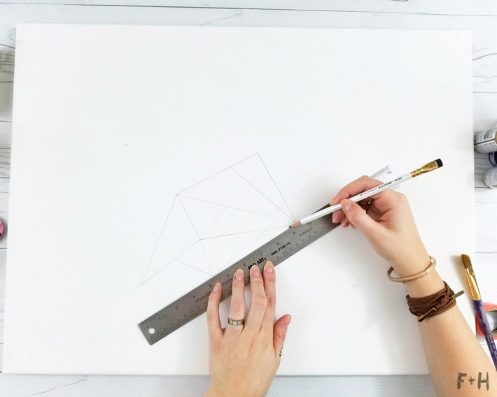 Geometric Canvas Art Diy - Fox + Hazel 4