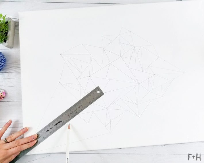 Geometric Canvas Art Diy - Fox + Hazel 4