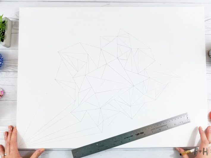 Geometric Canvas Art Diy - Fox + Hazel 5