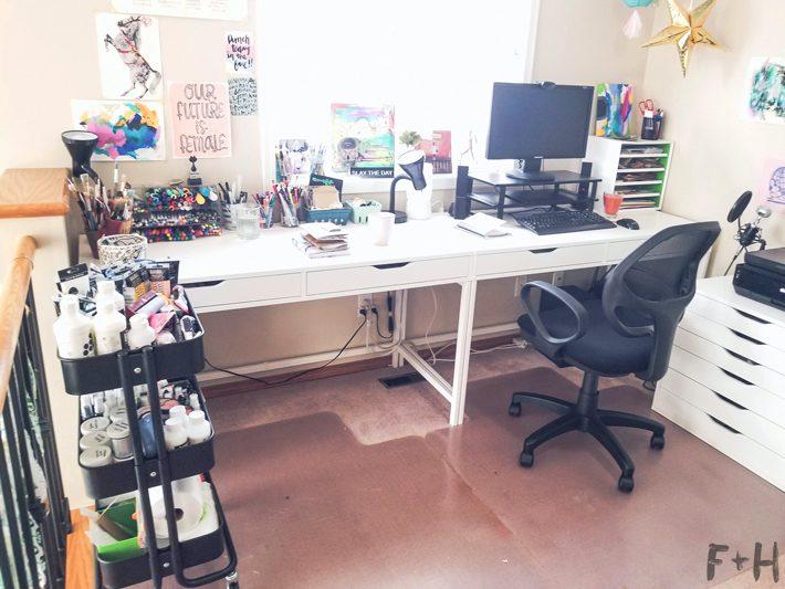 ikea alex desks side by side home office