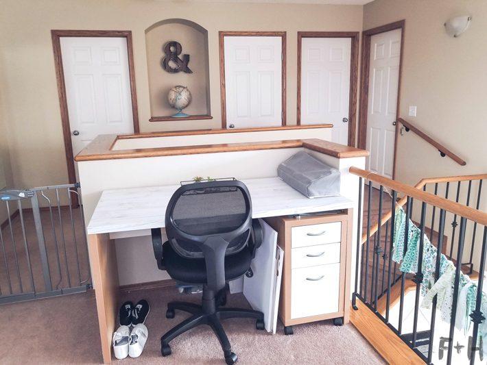 ikea desk in home office