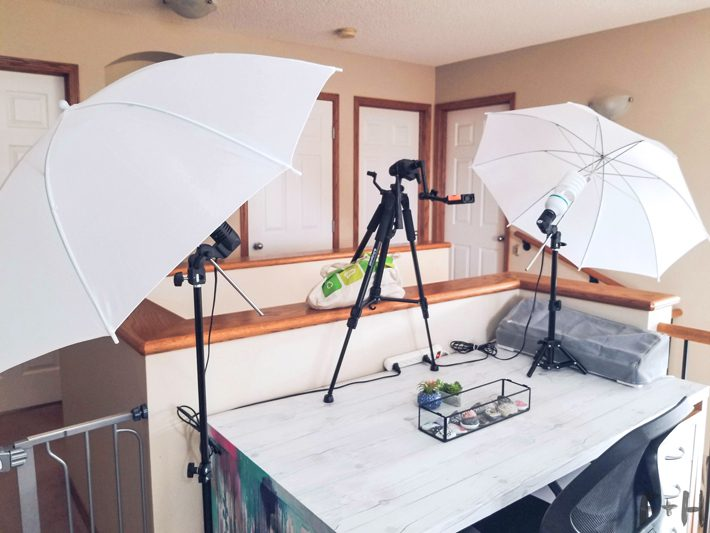 home studio photography set up