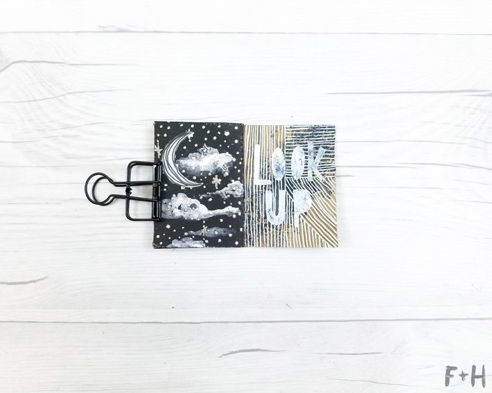 small art journal with drawings on white background