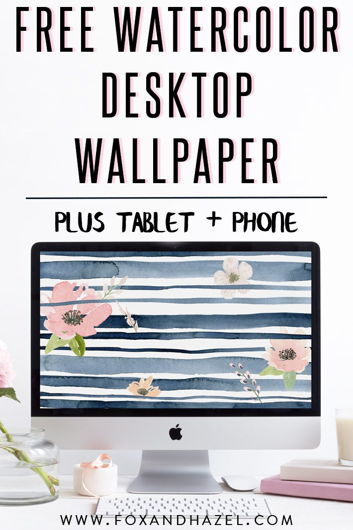 watercolor wallpaper on device screens