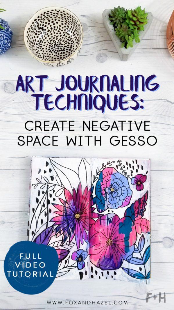 art journal on white desktop