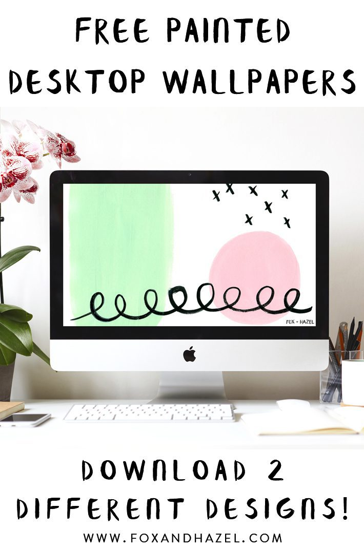 free painted desktop wallpapers on white background