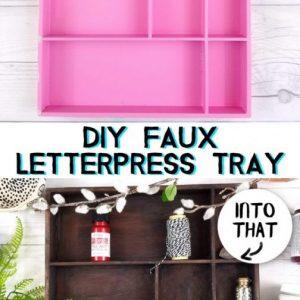 faux letterpress tray diy