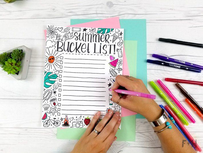Coloring Bucket List for Summer - Fox + Hazel-3