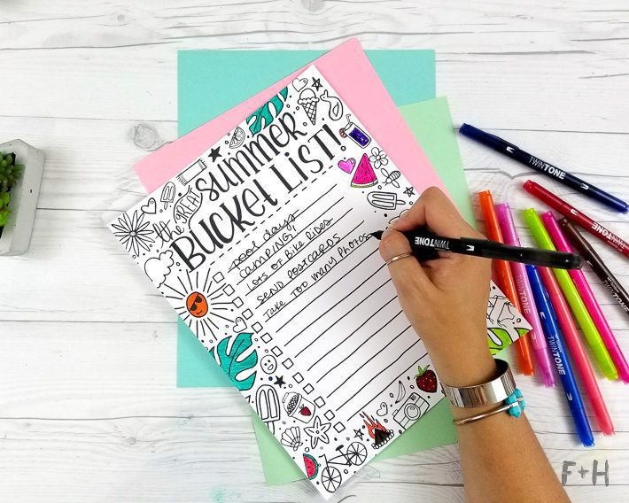 Coloring Bucket List for Summer - Fox + Hazel-4
