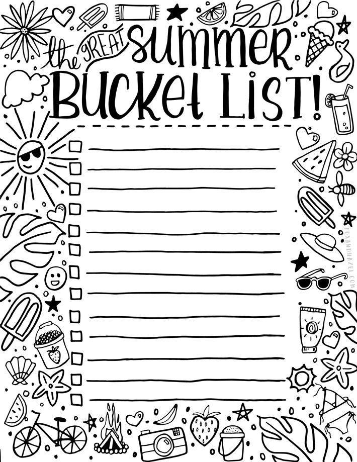 Coloring Bucket List for Summer - Fox + Hazel-4