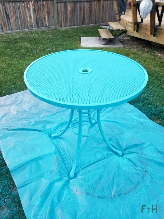 Repainting Metal Patio Furniture With, What Paint For Metal Outdoor Furniture