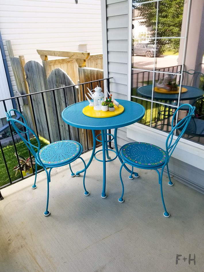 Repainting Metal Patio Furniture With, What Kind Of Paint To Use On Metal Outdoor Furniture