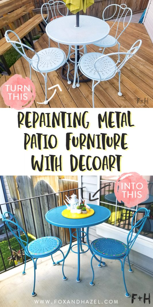 Repainting Metal Patio Furniture With, What Kind Of Paint To Use On Metal Patio Furniture