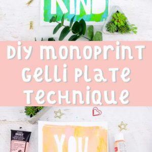monoprint gelli plate techniques
