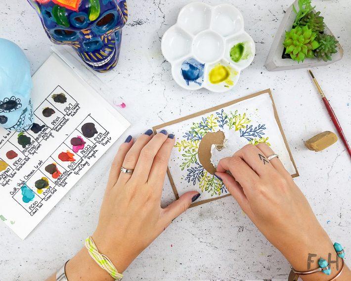 easy mail art envelope mail art tutorial