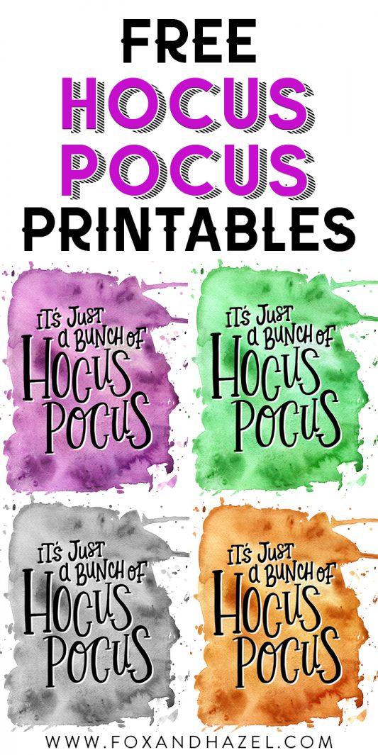 free hocus pocus printable
