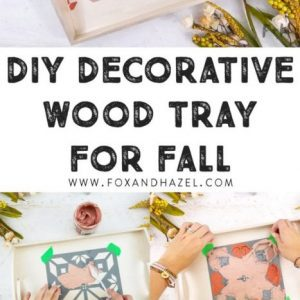diy decorative wood tray for fall