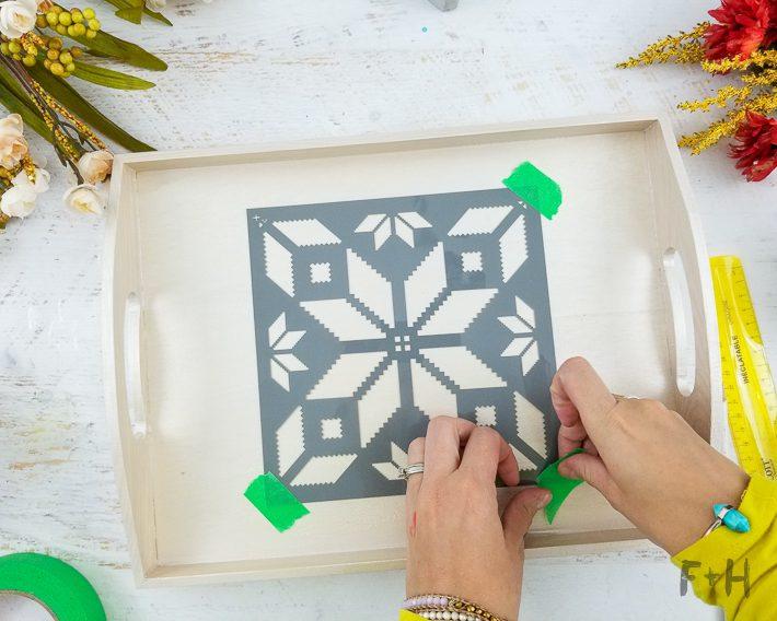 diy decorative wood tray for fall