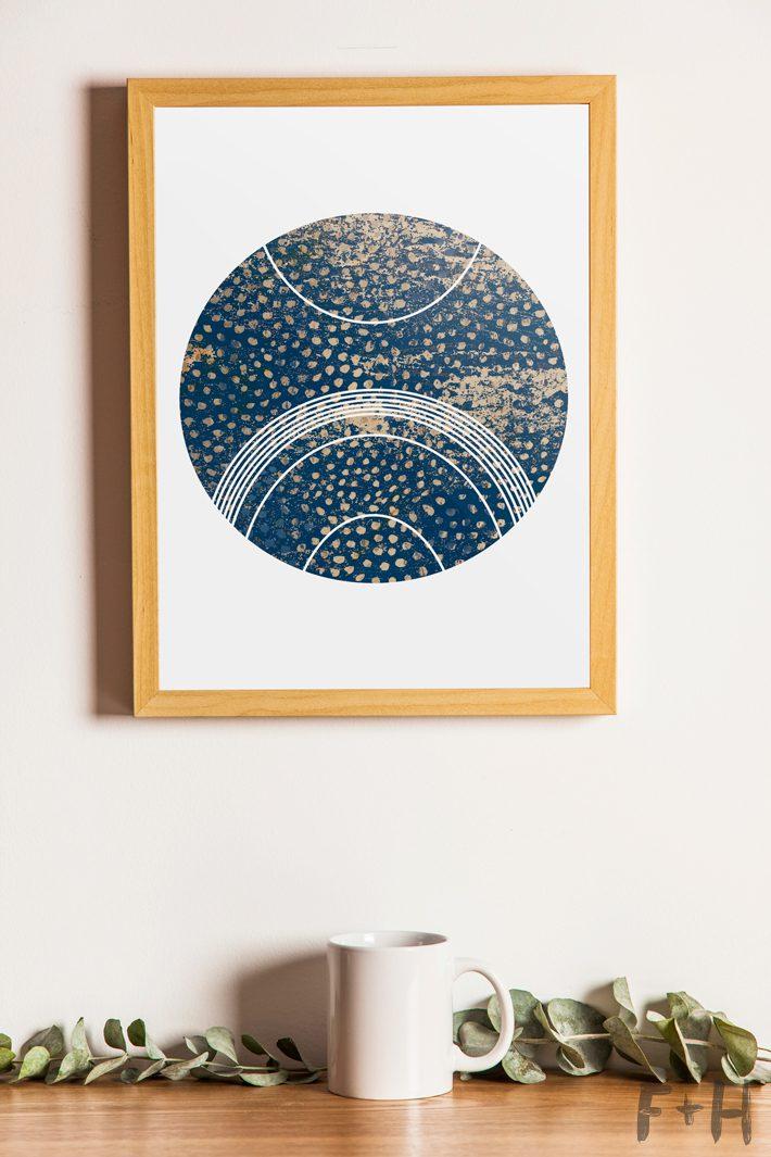 free modern art printable modern art print